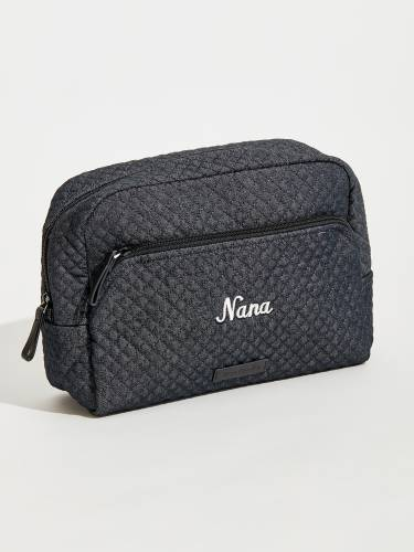 Iconic Large Cosmetic in Denim Navy for Nana