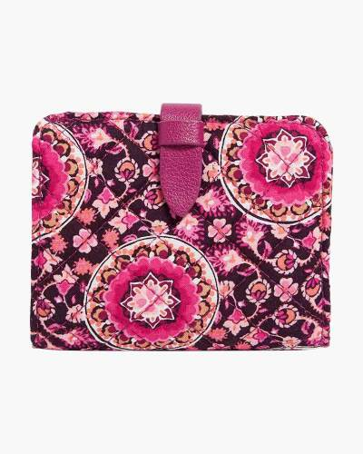 Iconic RFID Small Wallet in Raspberry Medallion