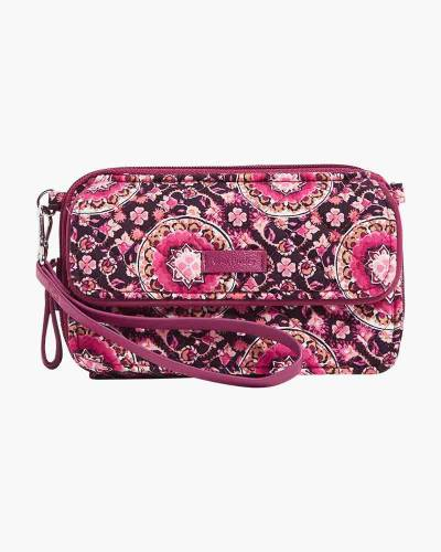 Iconic RFID All in One Crossbody in Raspberry Medallion