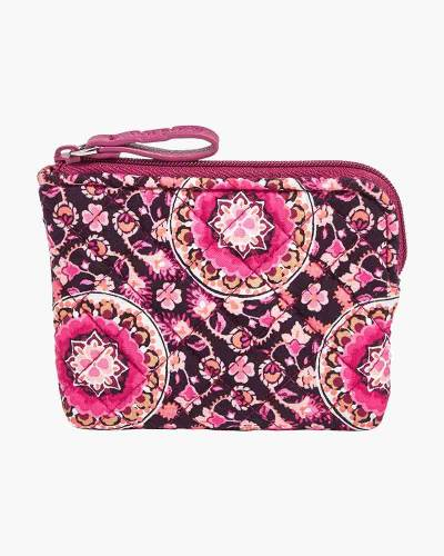 Iconic Coin Purse in Raspberry Medallion