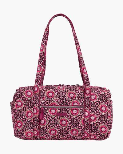 Iconic Small Travel Duffel in Raspberry Medallion