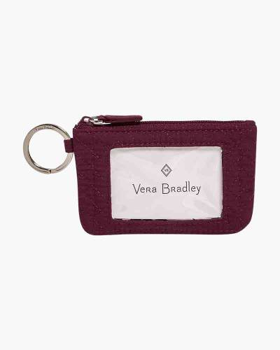 Iconic Zip ID Case in Mulled Wine