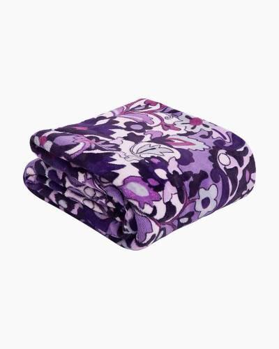 Plush Throw Blanket in Regal Rosette