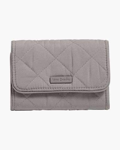 Iconic RFID Riley Compact Wallet in Tranquil Gray