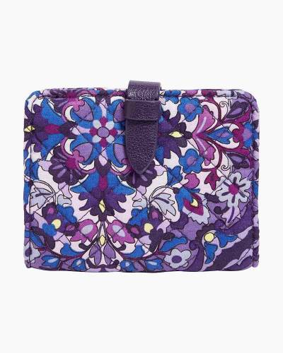 Iconic RFID Small Wallet in Regal Rosette