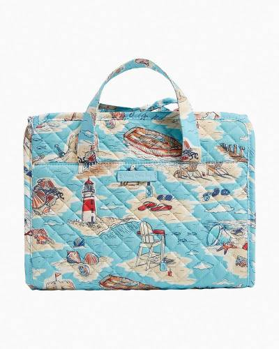 Exclusive Hanging Travel Organizer in Beach Toile
