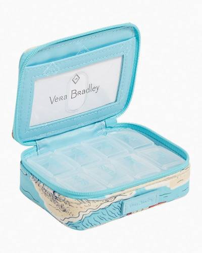 Exclusive Iconic Travel Pill Case in Beach Toile