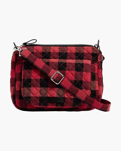 Carson Mini Shoulder Bag in Garnet Buffalo Check