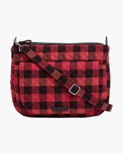 Carson Shoulder Bag in Garnet Buffalo Check