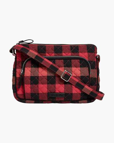 Iconic RFID Little Hipster in Garnet Buffalo Check
