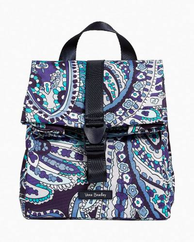 Lighten Up Lunch Tote in Deep Night Paisley