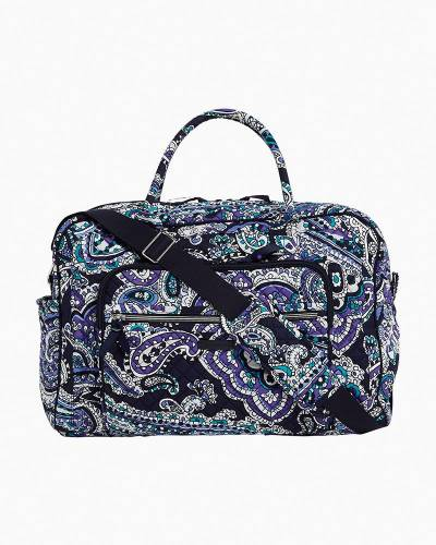 Iconic Compact Weekender Travel Bag in Deep Night Paisley