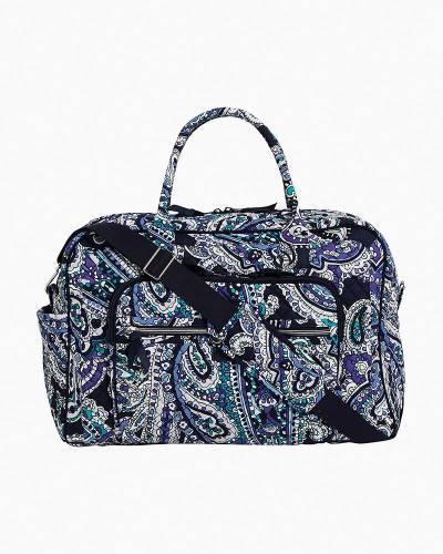 Iconic Weekender Travel Bag in Deep Night Paisley