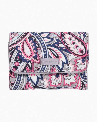 Iconic RFID Riley Compact Wallet in Gramercy Paisley