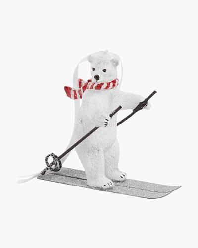 Polar Bear Skiing Ornament