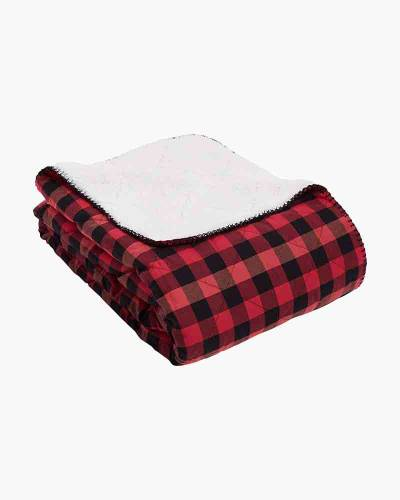 Cozy Life Blanket in Garnet Buffalo Check