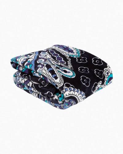 Plush Throw Blanket in Deep Night Paisley