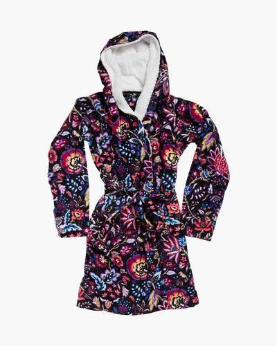 Hooded Fleece Robe in Foxwood