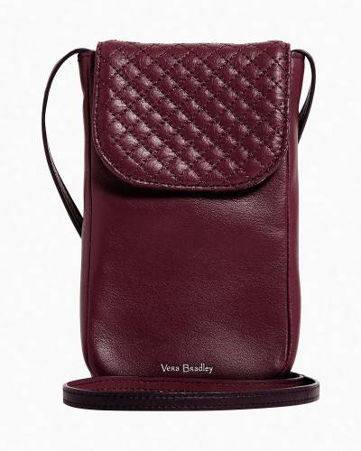 Carson RFID Cellphone Crossbody in Mulled Wine