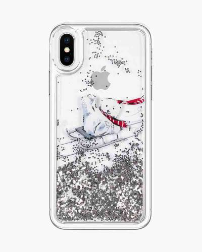 Glitter Flurry Case for iPhone in Beary Merry (X)