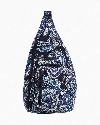 Iconic Sling Backpack in Deep Night Paisley