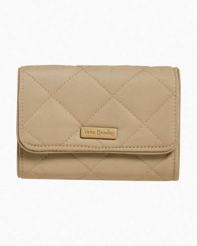 RFID Riley Compact Wallet in Khaki