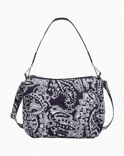 Carson Shoulder Bag in Deep Night Paisley Neutral