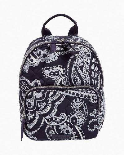 Mini Backpack in Deep Night Paisley Neutral