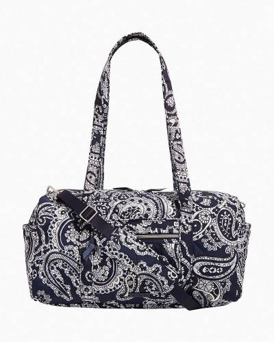 Small Travel Duffel in Deep Night Paisley Neutral