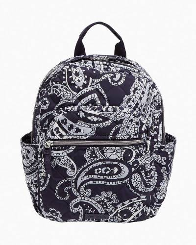 Small Backpack in Deep Night Paisley Neutral