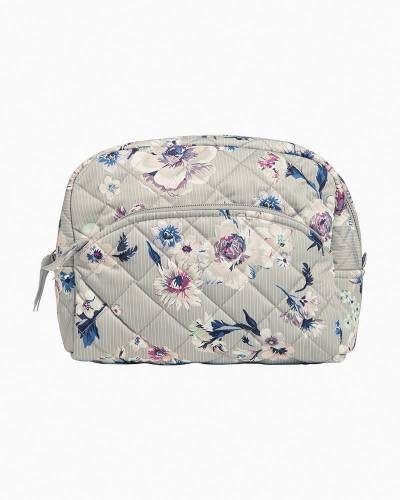 Large Cosmetic Bag in Park Stripe