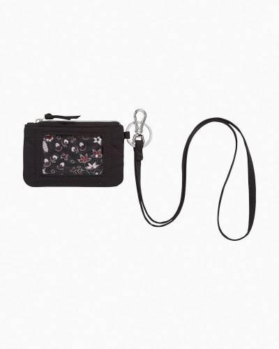 Iconic Zip ID Lanyard in Black