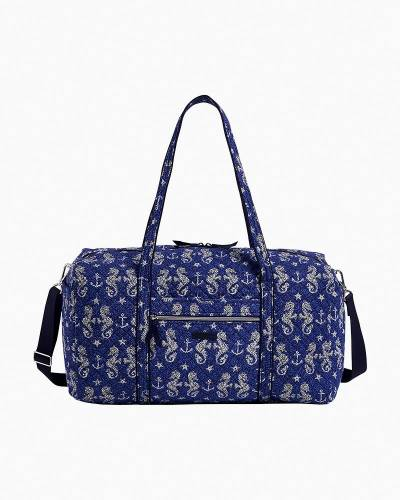 Large Travel Duffel Bag in Seahorse of Course