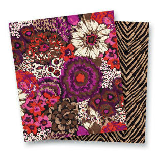 Vera Bradley Patterns Rosewood & Zebra