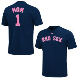 Majestic Boston Red Sox Women's #1 Mom Tee