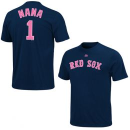 Majestic Women's #1 Nana Boston Red Sox Tee