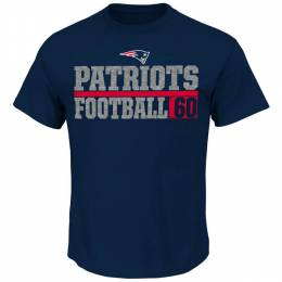 Majestic New England Patriots One Handed Grab Tee