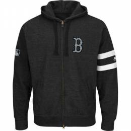 Majestic Boston Red Sox Men's Clubhouse Full-Zip Hoodie