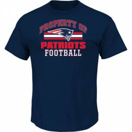 Majestic Men's New England Patriots Navy Property Of Tee