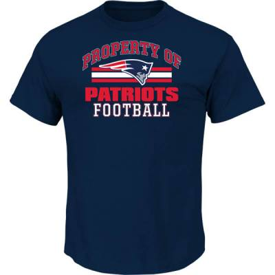 Men's New England Patriots Navy Property Of Tee