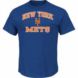 Majestic New York Mets Men's Heart and Soul Tee