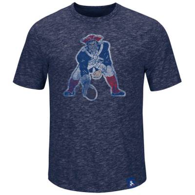 New England Patriots Men's Hyper Logo Throwback Tee