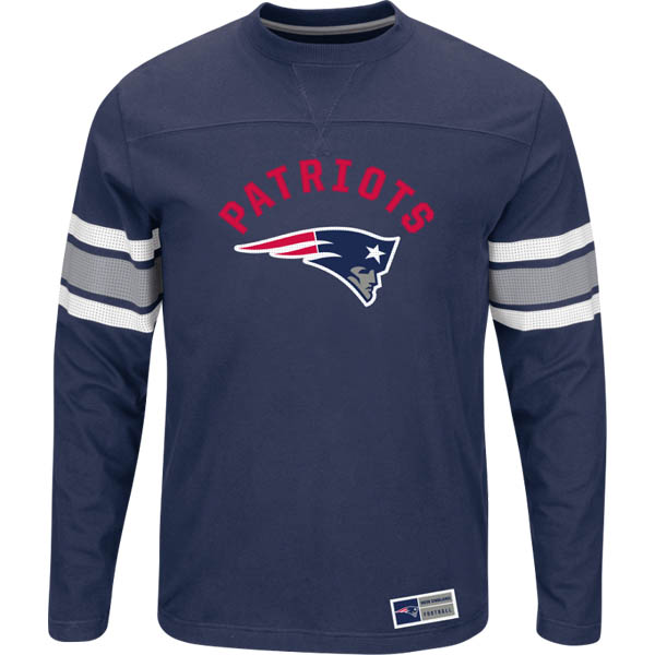 Majestic New England Patriots Men's Power Hit Long Sleeve Shirt