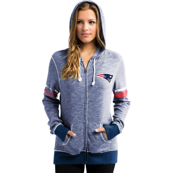 Majestic New England Patriots Women's Athletic Tradition Full-Zip Hoodie