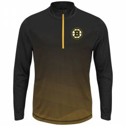 Majestic Boston Bruins Men's Crash the Net Long Sleeve Half-Zip Fleece