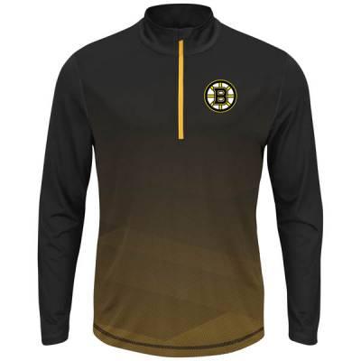 Boston Bruins Men's Crash the Net Long Sleeve Half-Zip Fleece