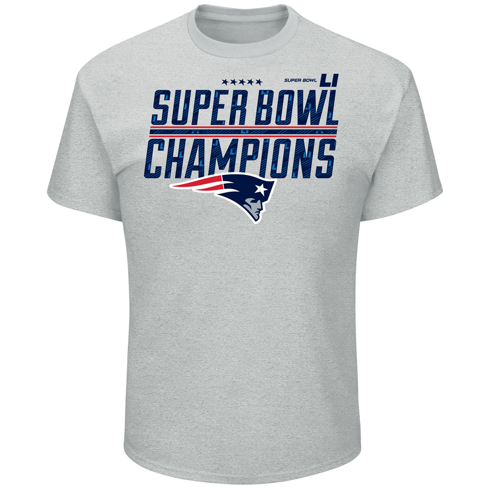 Majestic New England Patriots Men's Super Bowl LI Champions Tee
