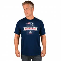 Majestic New England Patriots Men's Super Bowl LI Champions Roster Tee