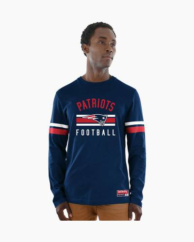 New England Patriots Men's Power Hit Long Sleeve Tee