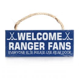 My Word Welcome Ranger Fans Wood Sign